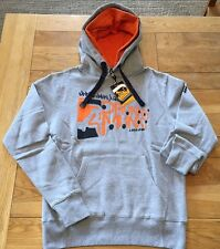 "Mens grey marl DRUNKNMUNKY  ""united under one groove"" double hooded sweat, XS"