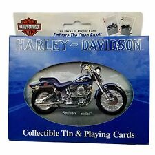NEW Collectible Harley Davidson Springer Softail Unopened Playing Cards Tin Box