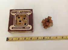 2 Small Vintage Wood Brain Teaser Puzzles
