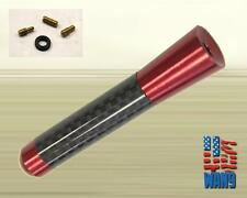 Jeep Wrangler JK Red Carbon Aluminum Screw-in Car Auto AM/FM Antenna