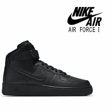 NIKE AIR FORCE 1 HIGH '07 ALL BLACK 315121 032 - UK SIZE 16