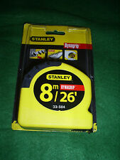 STANLEY 8M 26' DYNAGRIP MEASURING TAPE  2-33-504 MADE IN USA