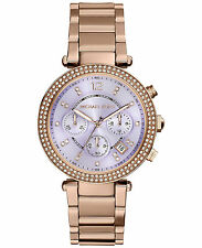 NEW IMPORTED Michael Kors Women's mk6169 parker purple dial/rosegold watch