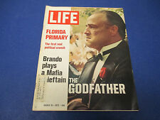 Life Magazine , March 10,1972 Brando Plays Don Vito In The Godfather