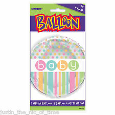 Baby Shower UNISEX Pastel Party Decorations Girls Boys Foil Balloon 18""