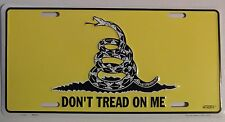 GADSDEN DONT TREAD ON ME LICENSE PLATE - MADE IN USA - PATRIOT CAR TAG - NEW