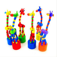 New Baby Kids Wooden Toys Spring Swing Rocking Giraffe Multi-Color At Random