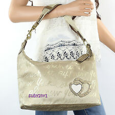 NWT Coach Poppy Lurex Signature Script New York Shoulder Bag Hobo F17472 RARE