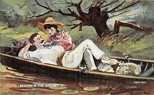 POSTCARD  COMIC     Beauty  and  the  Barge