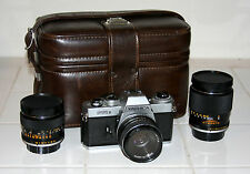 CAMERA YASHICA FR II, YASHICA LENS 50mm, YUS 1:2.8 f=135mm and YUS 1:2.8 f=28mm