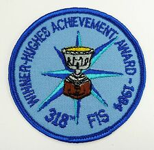 USAF 318th FIS WINNER HUGHES ACHIEVEMENT AWARD 1984 PATCH