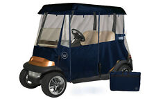 Drivable Person Golf Car Cart Enclosure Cover - Fits 2 Person Cart - Navy