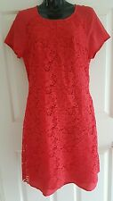 LACEY RED Dianna Ferrari Shift Dress BNWT Ladies Size 8