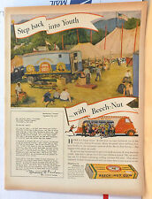 1938 magazine ad for Beech Nut Gum - Beech Nut miniature Circus delivers joy