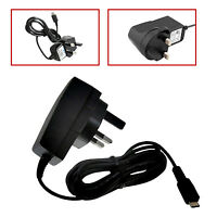 3 PIN MICRO USB UK MAINS AC WALL CHARGER FOR SAMSUNG I8160 GALAXY ACE 2 II