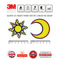Valentino Rossi 46 SUN MOON Helmet Laminated 3M Reflective Decals Sticker F309