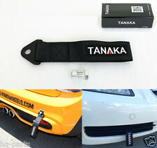 TANAKA HIGH STRENGTH UNIVERSAL BLACK RACING SPORTS TOW STRAP TOW HOOK