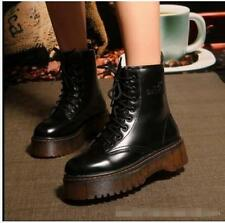 New Vintage Womens Creeper Platform Lace Up Ankle Boots Knight Punk Ankle Boots