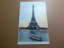Lot033p c1910 PARIS - La Tour EIFFEL Postcard EIffel TOWER FRANCE