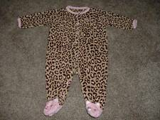 Fleece Leopard Kitty Pajamas Sleeper Size 6 Months 6M Daddys Princess Carter's