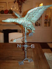 XLARGE Handcrafted 3Dimensional FLYING GOOSE Weathervane Copper Patina finish