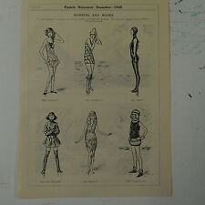 "7x10"" punch cartoon 1925 MANNERS AND MODES swimming costumes"
