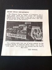 M58101 Ephemera 1963 Picture Scouts Glasgow Road Safety Week