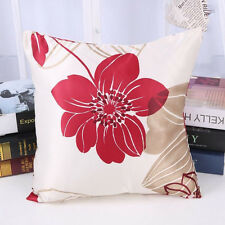 "Home Decorative 15""Throw Pillow Case Sofa Seat Cushion Cover Flower Square Print"