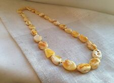 Natural Baltic Amber 21.9 gr. White Butterscotch Necklace