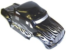 88035 RC 1/10 escala Monster Truck Body Shell cubrir HSP Negro V5 Corte Estrecho