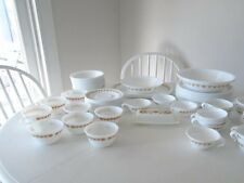 VINTAGE CORELLE GOLD BUTTERFLY PYREX DINNERWARE~100 PCS.~NEVER USED~BEAUTIFUL!