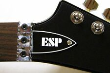 ESP TRUSS ROD COVER name plate for ESP LTD guitar (Black / White)
