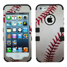 for iPhone SE 5S - MLB Baseball Sports Hybrid Armor Impact Hard&Soft Rubber Case