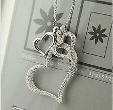 New Fashion Lovely Three Heart Design Necklace Christmas Gift