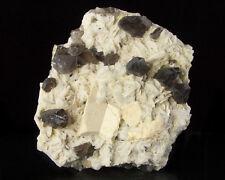 "5"" SMOKY QUARTZ Crystals on Microcline, Albite ex-E.Schlichter Moat NH for sale"
