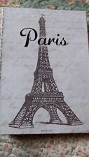 NEW BLANK JOURNAL/DIARY PARIS THEME FOLD OVER FRONT GREAT GIFT AWESOME STYLE