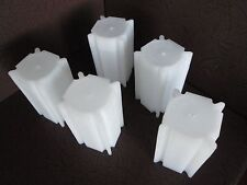 Lot of Ten Square Coin Storage Tubes for Small Dollars by Coin Safe