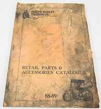 Pacific Harley Co Harley Davidson Retail Parts & Accessories Catalogue 1988-89