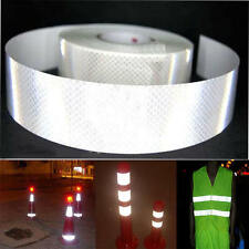 """2""""X10' 3M Silver White Reflective Safety Warning Conspicuity Tape Sticker Film W"""