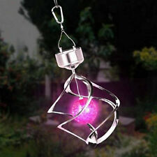 Solar Powered LED Wind Chime Wind Spinner Windchime Outdoor Garden Courtyard H7