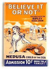 Medusa the Mermaid FRIDGE MAGNET (2.5 x 3.5 inches) freak show poster