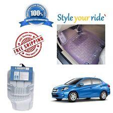 Honda Amaze -Transparent Rubber Mats Car Floor / Foot Mats