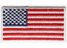 """(G13) 2"""" MINI US FLAG with WHITE Border 2"""" x 1.1"""" iron on patch (4935) Cap Hat"""