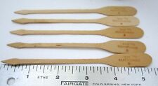 Don the Beachcomber Tiki Swizzle Stick Stir Picks Wooden Oar 1950's Hawaii 5 pcs
