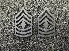 (A29-005) US Rangabzeichen Metall First Sergeant Schwarz
