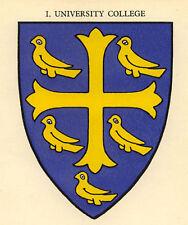 Oxford, University College escudo de armas de impresión de 1929