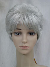 Light gray Short Curly Middle-aged / elderly Women Ladies Daily wig FTLD011