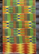 African Kente Print Cloth Bright and permanent colors Sold per yard