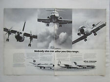 6/1975 PUB VFW FOKKER AIRCRAFT HOLLAND FOKKER F27 FRIENDSHIP VFW 614 F28 AD