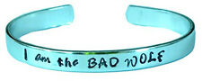 Doctor Who Inspired - I Am The BAD WOLF - A Hand Stamped Aluminum Bracelet